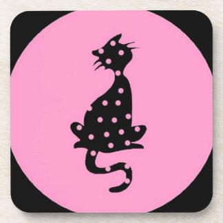Katze Skizze Zeichnung schwarzer Humor rosa Erbse Untersetzer
