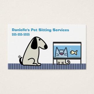 Katze u. -aquarium des Haustier-Modells Hunde Visitenkarte