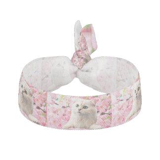 Katze und Blumen Haarschleife