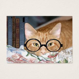 Katze und Bücher ACEO Visitenkarte