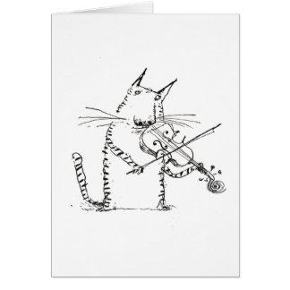 Katze und die Geigen-Karte Karte