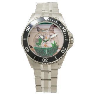 Katze und Fische - Katze - lustige Katzen - Armbanduhr
