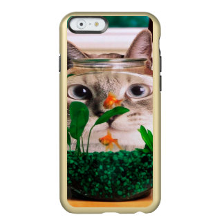 Katze und Fische - Katze - lustige Katzen - Incipio Feather® Shine iPhone 6 Hülle
