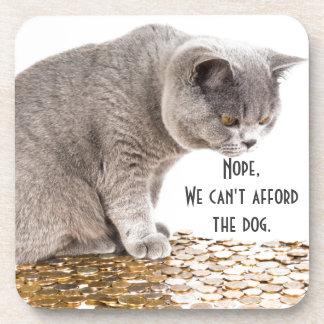Katze und Hunde Humor Getränkeuntersetzer
