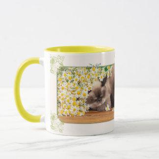 Katze und Margeriten Tasse