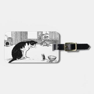Katze und Maus - Gepäckanhänger