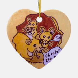 Katze und Maus Keramik Ornament