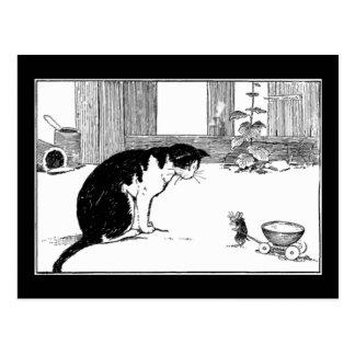 Katze und Maus - Postkarte
