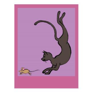 Katze und Maus Postkarte