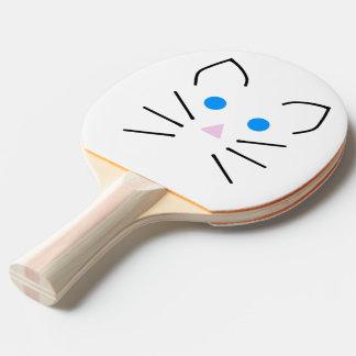 Katze und MausKawaii blaue Augen-Cartoon-Tiere Tischtennis Schläger