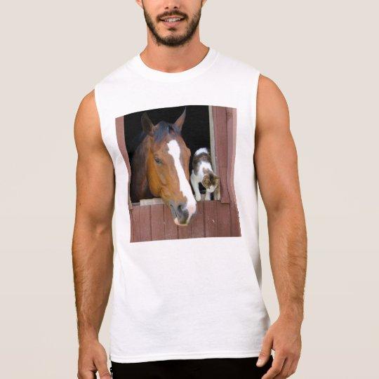 Katze und Pferd - Pferderanch - Pferdeliebhaber Ärmelloses Shirt