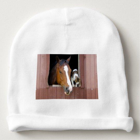 Katze und Pferd - Pferderanch - Pferdeliebhaber Babymütze