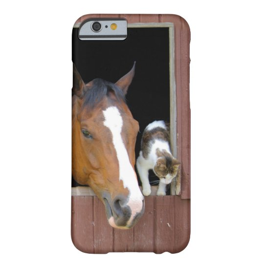 Katze und Pferd - Pferderanch - Pferdeliebhaber Barely There iPhone 6 Hülle