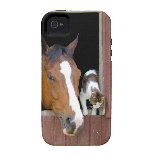 Katze und Pferd - Pferderanch - Pferdeliebhaber Case-Mate iPhone 4 Hüllen