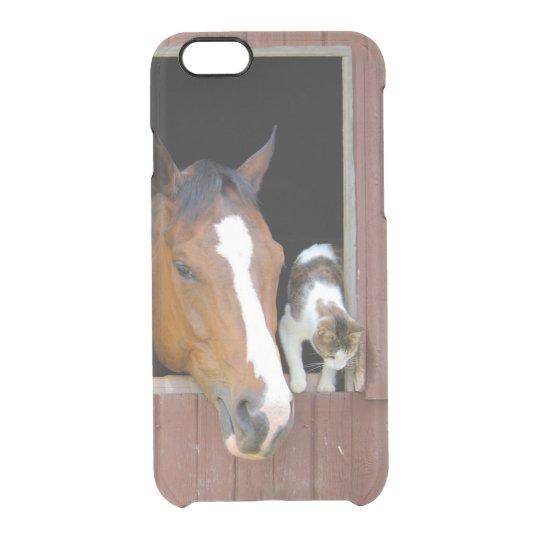 Katze und Pferd - Pferderanch - Pferdeliebhaber Durchsichtige iPhone 6/6S Hülle