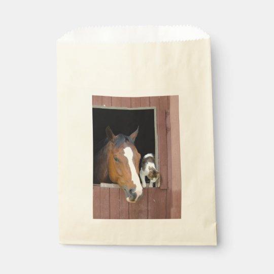 Katze und Pferd - Pferderanch - Pferdeliebhaber Geschenktütchen