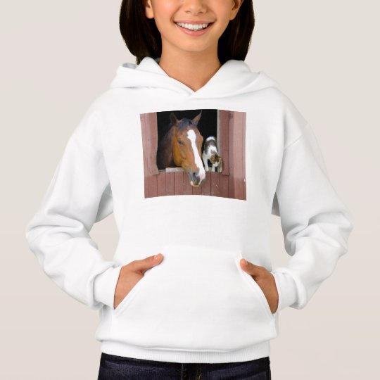 Katze und Pferd - Pferderanch - Pferdeliebhaber Hoodie
