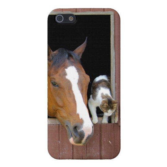 Katze und Pferd - Pferderanch - Pferdeliebhaber Hülle Fürs iPhone 5