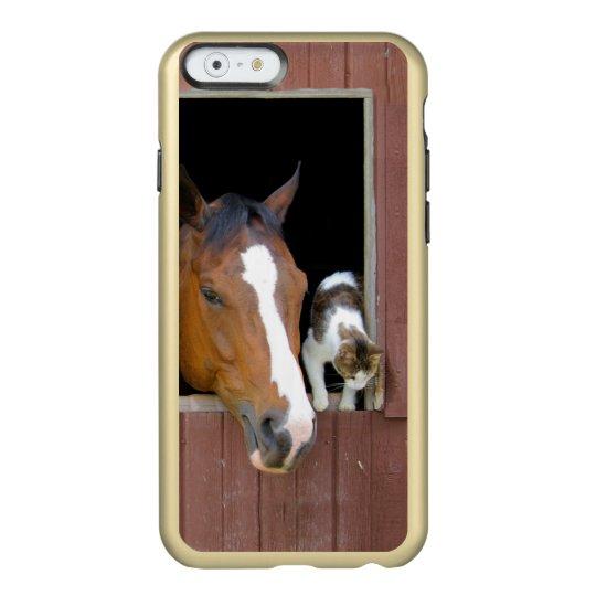 Katze und Pferd - Pferderanch - Pferdeliebhaber Incipio Feather® Shine iPhone 6 Hülle