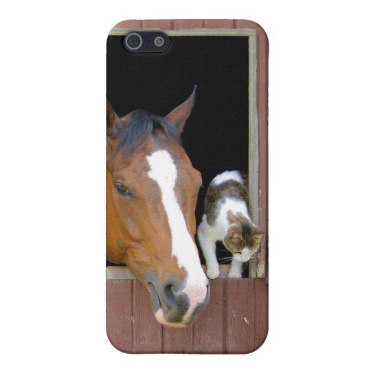 Katze und Pferd - Pferderanch - Pferdeliebhaber iPhone 5 Etuis
