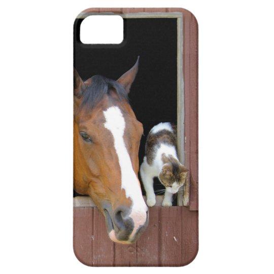 Katze und Pferd - Pferderanch - Pferdeliebhaber iPhone 5 Schutzhülle