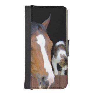 Katze und Pferd - Pferderanch - Pferdeliebhaber iPhone SE/5/5s Geldbeutel