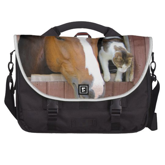 Katze und Pferd - Pferderanch - Pferdeliebhaber Laptoptasche