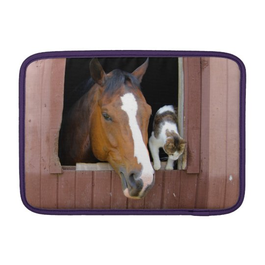 Katze und Pferd - Pferderanch - Pferdeliebhaber MacBook Air Sleeve