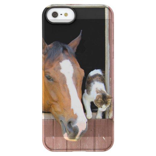 Katze und Pferd - Pferderanch - Pferdeliebhaber Permafrost® iPhone SE/5/5s Hülle