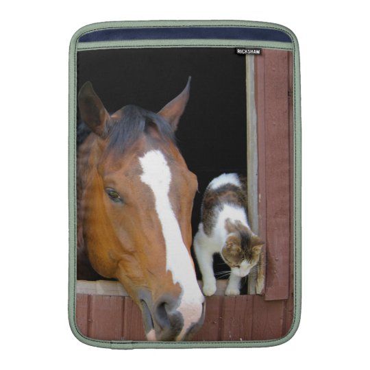 Katze und Pferd - Pferderanch - Pferdeliebhaber Sleeve Fürs MacBook Air