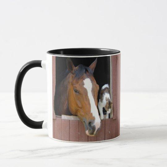 Katze und Pferd - Pferderanch - Pferdeliebhaber Tasse