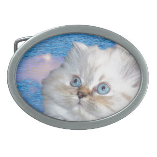 Katze und Wasser Ovale Gürtelschnallen