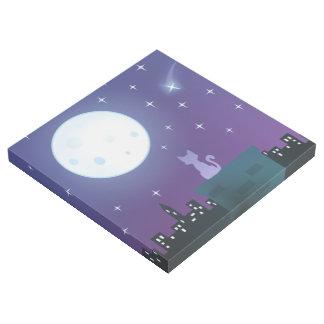 Katze unter dem Mondschein Galerieleinwand