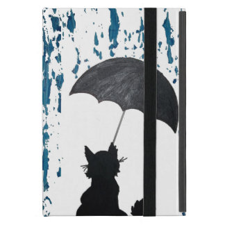 Katze unter Regenschirm Etui Fürs iPad Mini