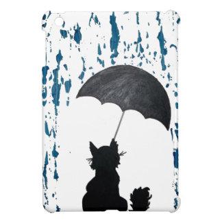 Katze unter Regenschirm iPad Mini Hülle