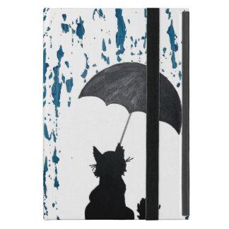 Katze unter Regenschirm iPad Mini Hüllen