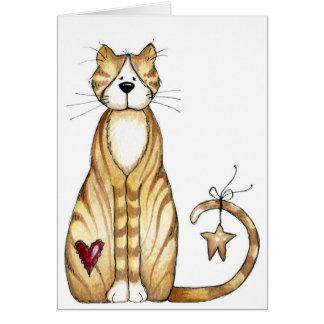 Katze - Valentinsgruß-Karte Karte