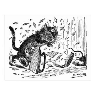Katze verliert Abendessen, wenn Maus entgeht Postkarte