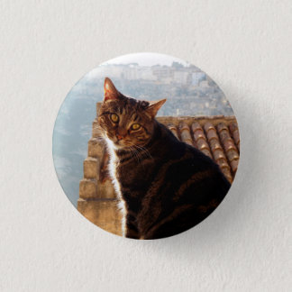 Katze von Matera Runder Button 3,2 Cm