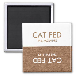 Katze zuletzt gefüttert… Abends-u. Quadratischer Magnet