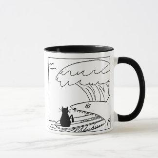 Katzehater-surfende Cartoon-Tasse Tasse