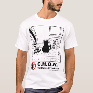 Katzehaters-Fußball-Cartoon-T - Shirt