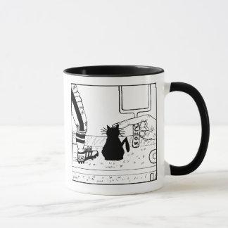 Katzehaters-Fußball-Cartoon-Tasse Tasse
