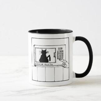 Katzehaters-Mikrowellen-Cartoon-Tasse Tasse