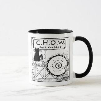 Katzehaters-Sägemühle-Cartoon-Tasse Tasse