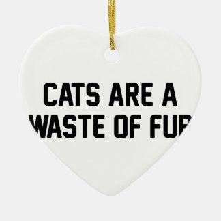 Katzen-Abfall des Pelzes Keramik Ornament