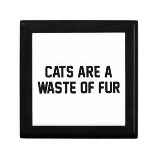 Katzen-Abfall des Pelzes Schmuckschachtel