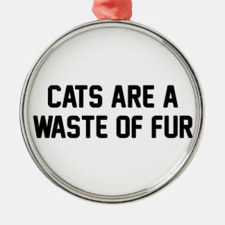 Katzen-Abfall des Pelzes Silbernes Ornament