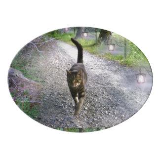 Katzen-Allee Porzellan Servierplatte