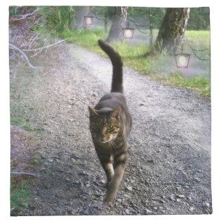 Katzen-Allee Stoffserviette